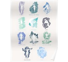 iamamiwhoami; BLUE (with song titles) Poster