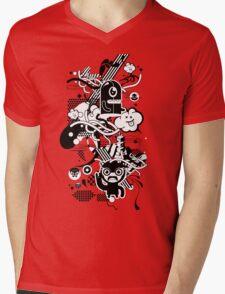Freaky World Mens V-Neck T-Shirt