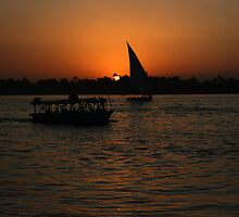Nile Sunset by Roddy Atkinson