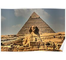 The Sphinx and Khafre's Pyramid Poster