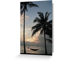 hammock in the sunset Greeting Card