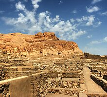 Deir el-Madinah or Valley of the Workers by Roddy Atkinson