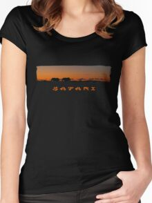 Safari Sunset T Women's Fitted Scoop T-Shirt