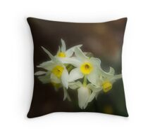 Softly Daffodils Throw Pillow
