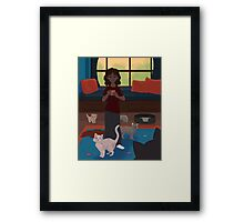 Lazy Morning with Cats Framed Print