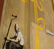 Banksy Flower by Kiwikiwi