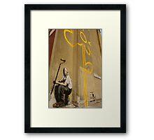 Banksy Flower Framed Print