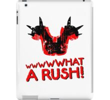 What A Rush! Design (White) iPad Case/Skin
