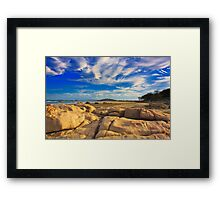 Sandstone Sunset Framed Print