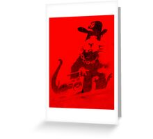 Banksy Gangsta Rat - Red  Greeting Card