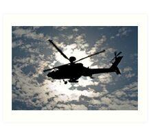 Apache Silhouette Art Print