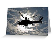 Apache Silhouette Greeting Card