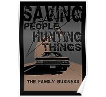 supernatural:saving people hunting things Poster