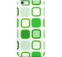 Retro Art Green Squares iPhone Case/Skin