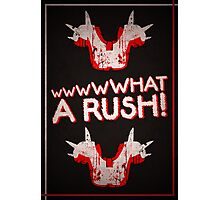 What A Rush! Design (Black) Photographic Print