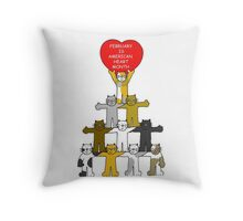 February is American Heart Month Throw Pillow