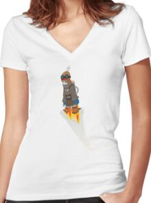 Flyboy 20XT10 Women's Fitted V-Neck T-Shirt