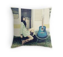 Traveling Music Throw Pillow