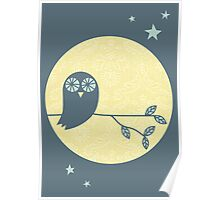 Owl & Moon Poster
