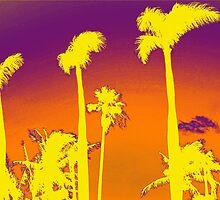 Purple Palm trees by Lisa DeLong
