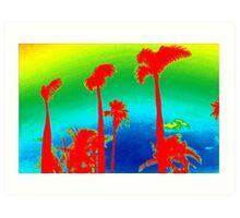 Rainbow Palm Trees Art Print