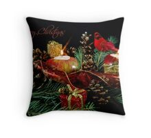 Christmas Red Throw Pillow