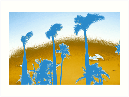 Chrome Palm Trees by Lisa DeLong