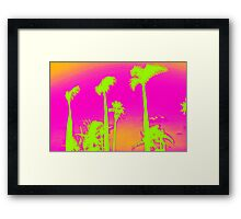Pink Palm Trees Framed Print