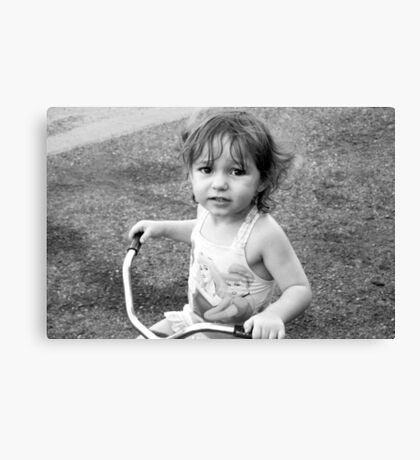 Tricycle Training Canvas Print