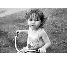 Tricycle Training Photographic Print
