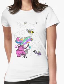 pink elephant and purple bee T-Shirt