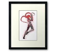 Mass Effect - Shepard of Hearts [Card Suit Series] Framed Print