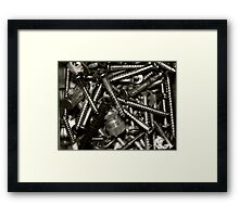 """Tool Box Collections- Screws"" Framed Print"