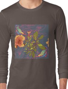 Seamless floral background with petunia Long Sleeve T-Shirt