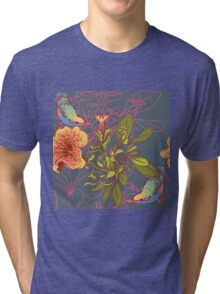 Seamless floral background with petunia Tri-blend T-Shirt