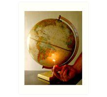 Setting the world on fire Art Print