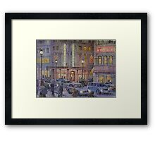 Internet Cafe Framed Print