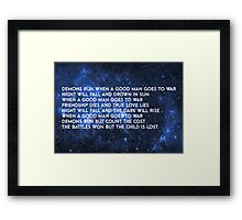 Doctor Who - Demons Run Framed Print