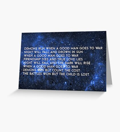 Doctor Who - Demons Run Greeting Card