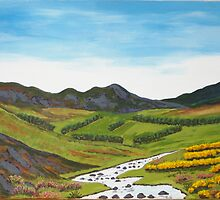 Carragh Stream , County Kildare, Irish Republic by Samuel Ruth