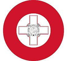 Roundel of the Maltese Air Force Photographic Print