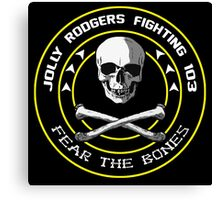 Fighting 103 Jolly Rogers Badge Canvas Print