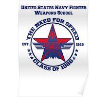 Top Gun Class of 86 - Weapon School Poster