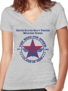 Top Gun Class of 86 - Weapon School Women's Fitted V-Neck T-Shirt