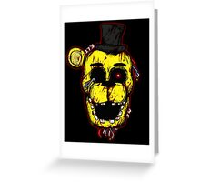 Bloody Golden Freddy FNAF Greeting Card