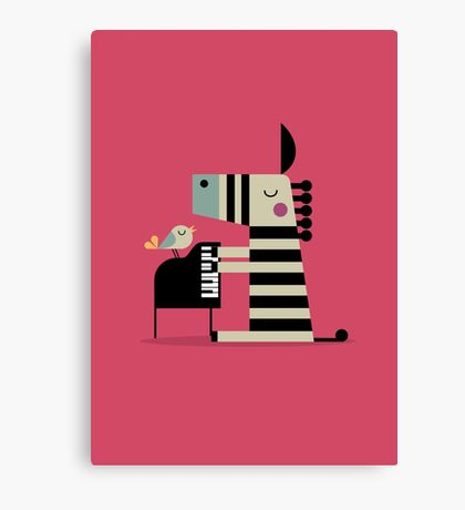 Music Zebra Canvas Print