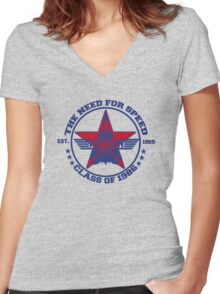 Top Gun Class of 86 - Need For Speed Women's Fitted V-Neck T-Shirt