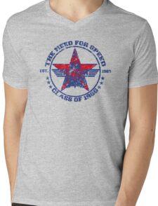 Top Gun Class of 86 - Need For Speed - Warn Look Mens V-Neck T-Shirt