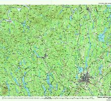 Maine USGS Historical Map Lewiston 808019 1986 100000 by wetdryvac