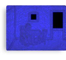 Sad and Blue Canvas Print